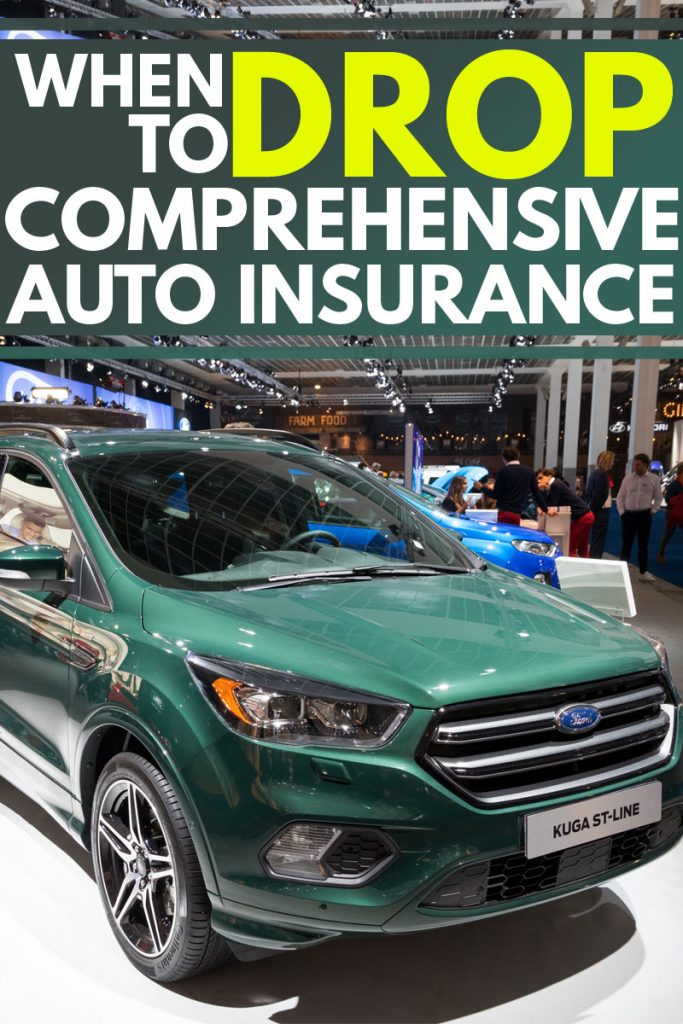 A brand new Ford kuga at an autoshow, When to Drop Comprehensive Auto Insurance?