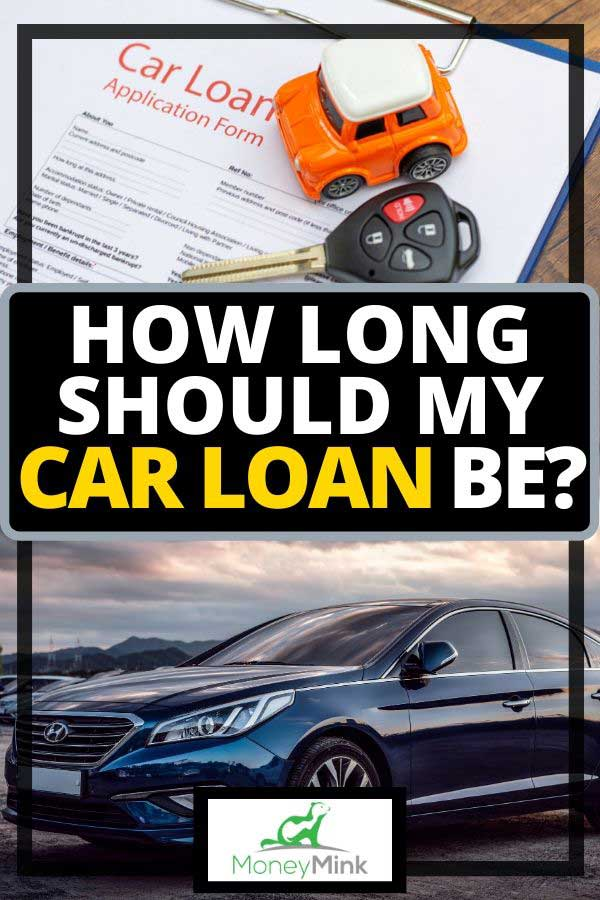 Blue car and car loan application form with car keys and car model