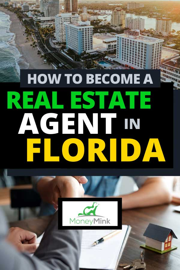 Collage of aerial view of Fort Lauderdale Beach, Florida and real estate agent shaking hands with his customer