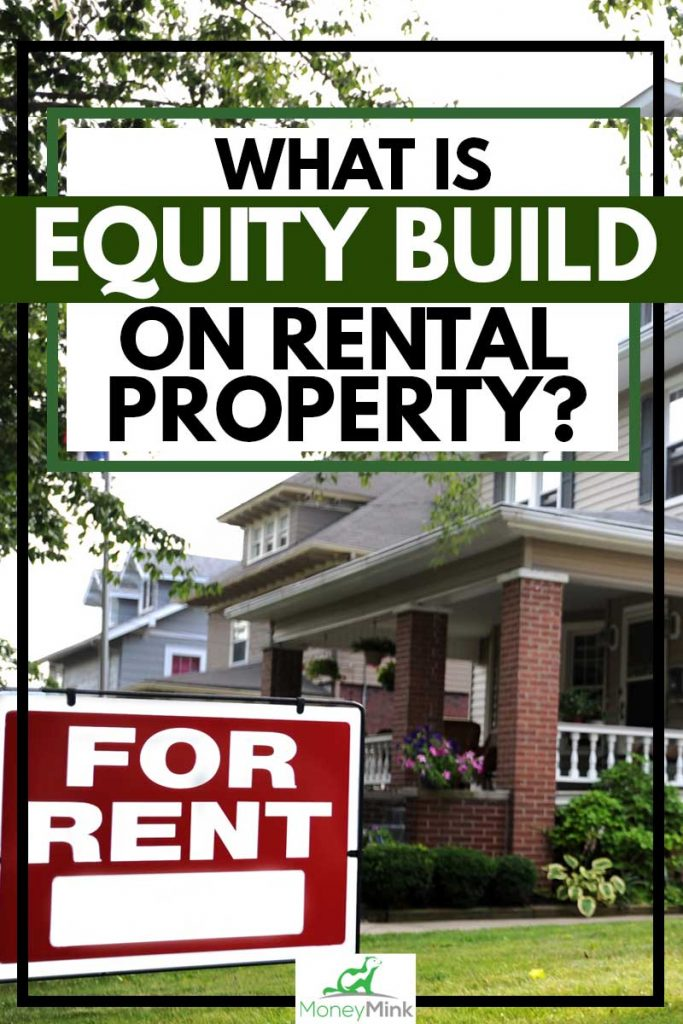 Home For Rent Sign in Front of Beautiful American Home, What is Equity Build On Rental Property