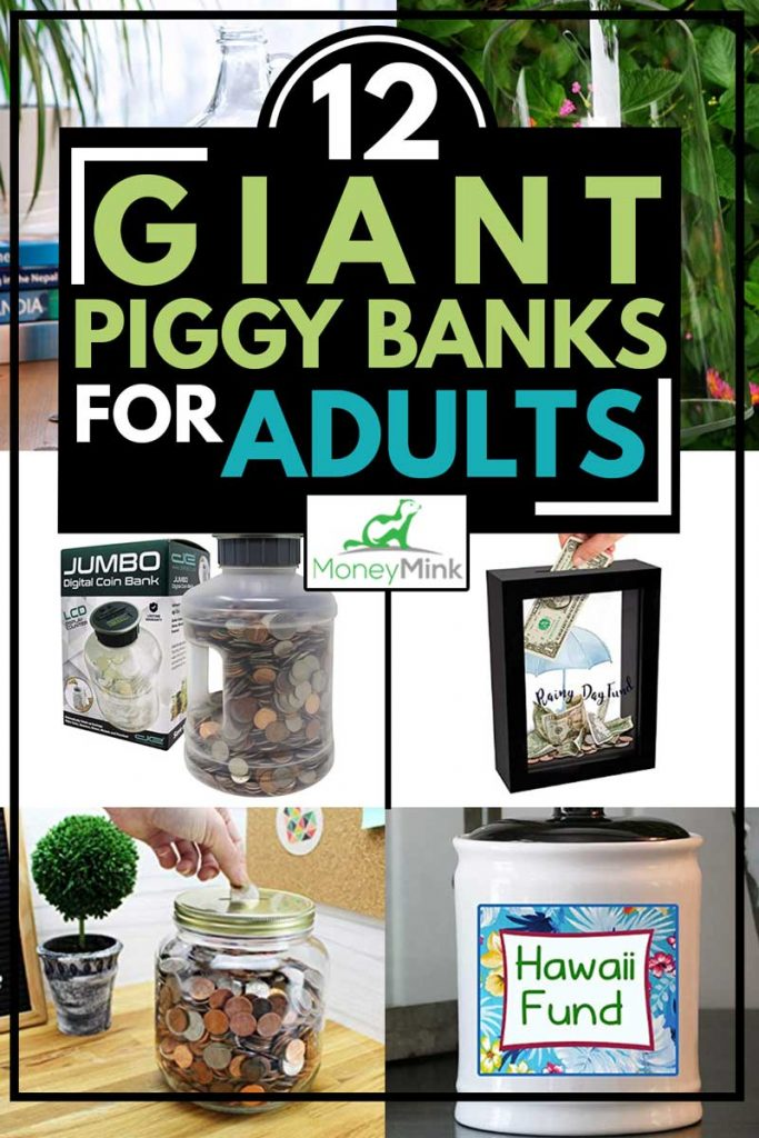 A collage of giant piggy banks that will suits for you, 12 Giant Piggy Banks For Adults