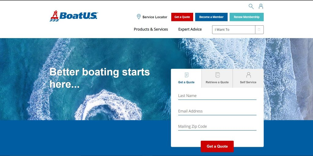 BoatUS website homepage